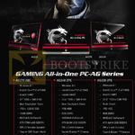 AIO Desktop PCs AG270 2QC, AG240 2PE, AG220 2PE