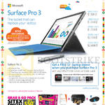 Surface Pro 3 Tablet, DBS POSB Free Laptop Sleeve, Grab N Go Pack