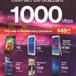 Mobile Phones, 1000Mbps Fibre Broadband, LG L40 Dual Sim, Samsung Galaxy Tab 3 Lite 7.0, Note 4, Lenovo A536, Blackberry Z30, Oppo Find 7