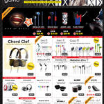 Gavio Headphones, Earphones, Speakers, USB Chargers, Chord Clef, Gazz, Metallon AI2, Amped, Wrenz, Stormer