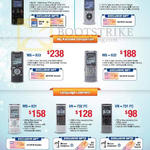Voice Recorders Digital LS-14, DM-650, WS-832, WS-833, WS-831, VN-732 PC, VN-731 PC