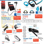 Bluetooth Mobile Headsets Backbeat Go 2 Charge, Backbeat Fit, Voyager Edge, Marque 2 M165, ML18, M90, Voyager Legend Premium