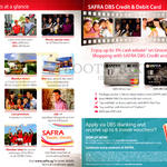 Safra Benefits, DBS Credit, Debit Card Cash Rebates