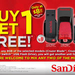 Flash Drives Buy 1 Get 1 Free, Cruzer Blade, Edge, Switch