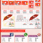 Singtel Mobile Prepaid Sim Card, Top-Up Card, Facebook, WhatsApp, Opera Mini Plans