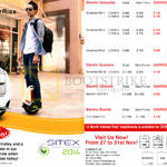 Smartride Motorised Cycle, Electric Unicycles Smartride KB-1, KB-5, KB-8, KB-10, Innovation SCV R-1, Chic Smart S-1