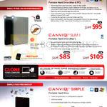 External Hard Disk Drives Canvio Slim II, Canvio Simple