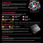 Freedom VPN, Fibernet Broadband, ViewQwest TV, OneVoice