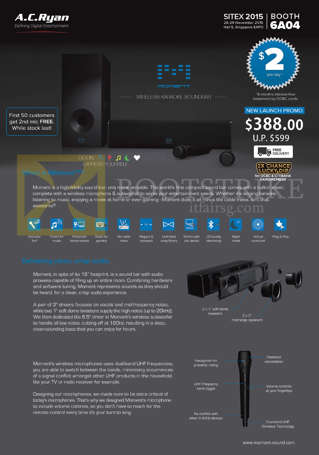SITEX 2015 price list image brochure of AC Ryan Wireless Karaoke Soundbar