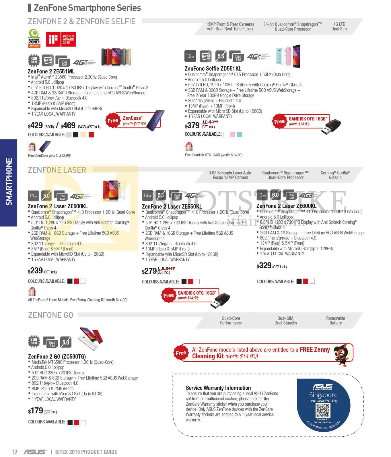 Asus Smartphones Zenfone 2 Ze551ml Selfie Zd551kl Selfi 4g Lte Sitex 2015 Price List Image Brochure Of