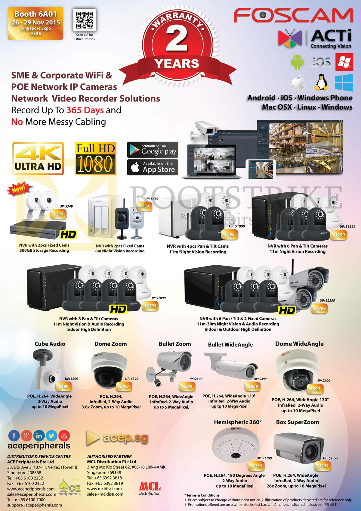 SITEX 2015 price list image brochure of Ace Peripherals ACTi Foscam Stand Alone Network IP POE WiFi Camera Home SME Corp Large Enterprise R5 Pg2