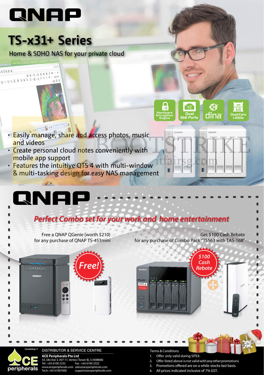 SITEX 2015 price list image brochure of Ace Peripherals Lucky Draw Foscam QNAP Strontium Synology Promo Pg2