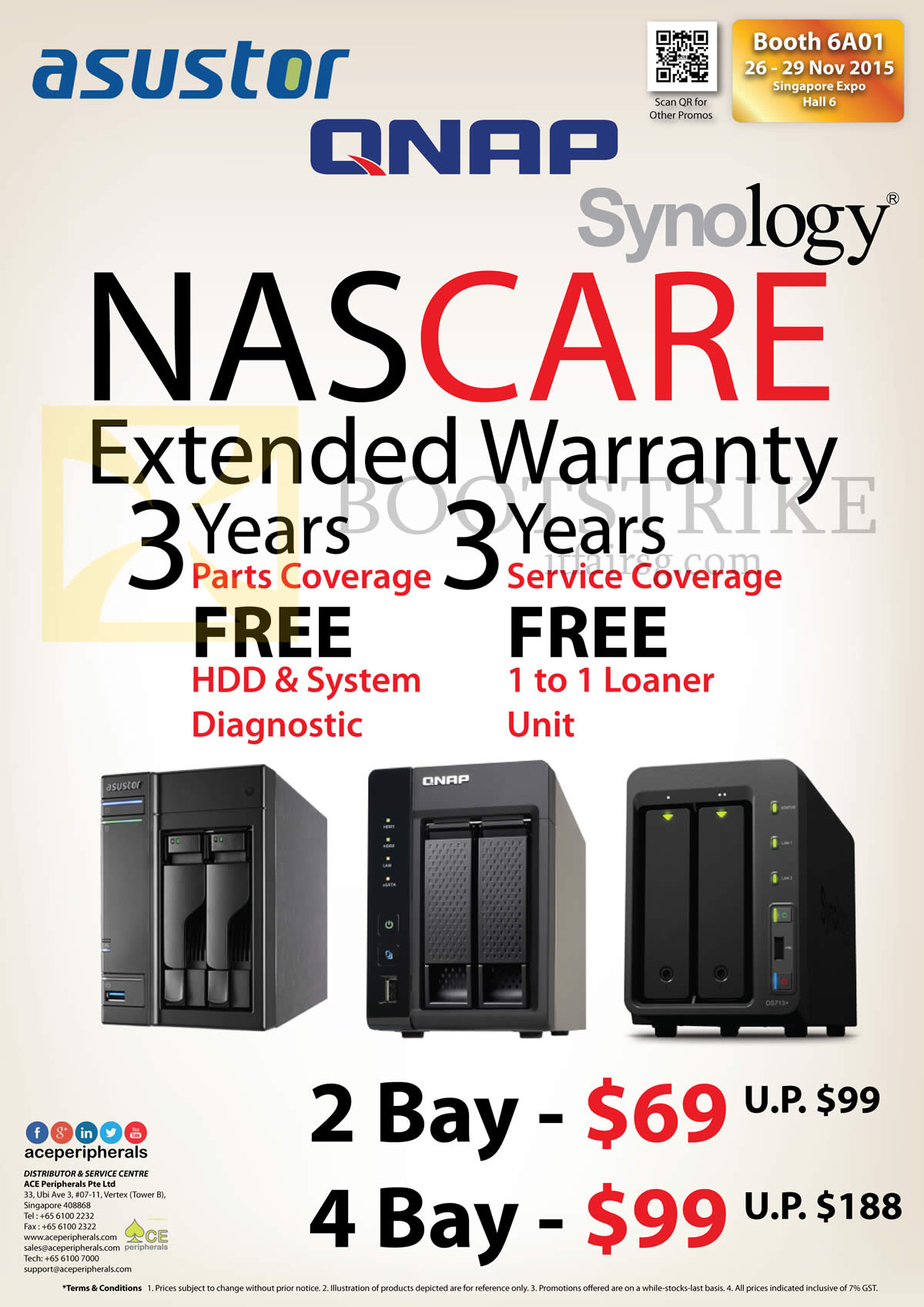 SITEX 2015 price list image brochure of Ace Peripherals NASCare Extended Warranty