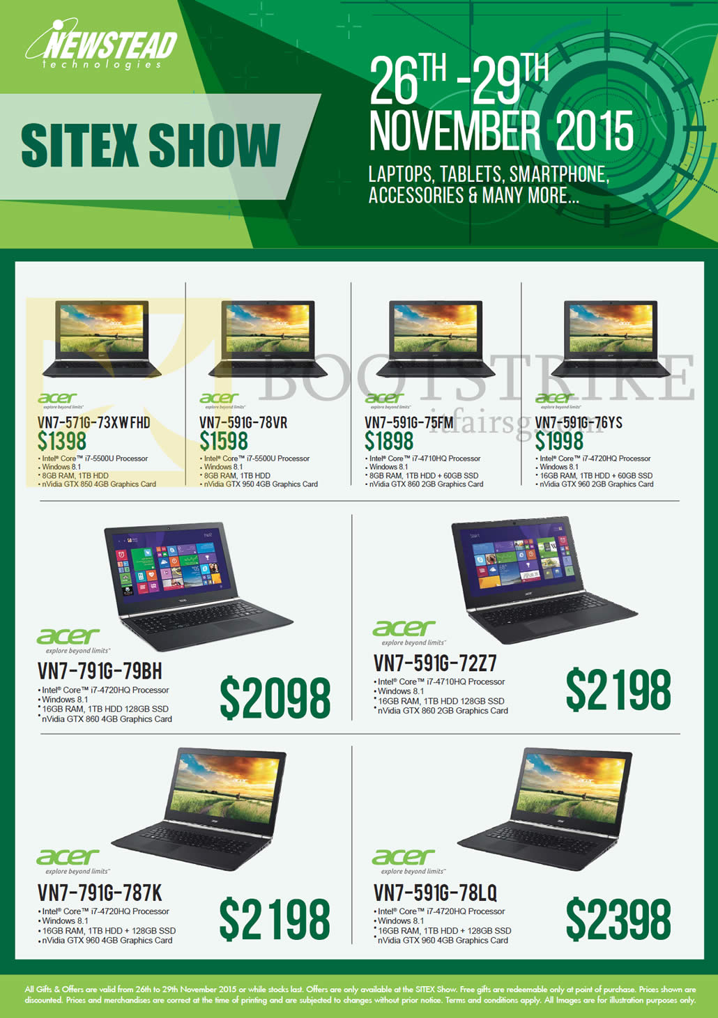 SITEX 2015 price list image brochure of Acer Newstead Notebooks VN7-571G