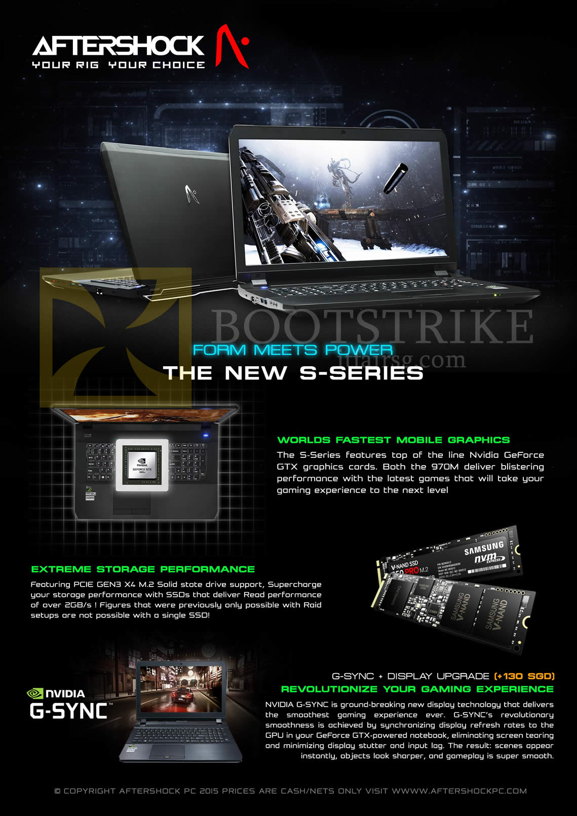 SITEX 2015 price list image brochure of Aftershock Notebook S-Series Features