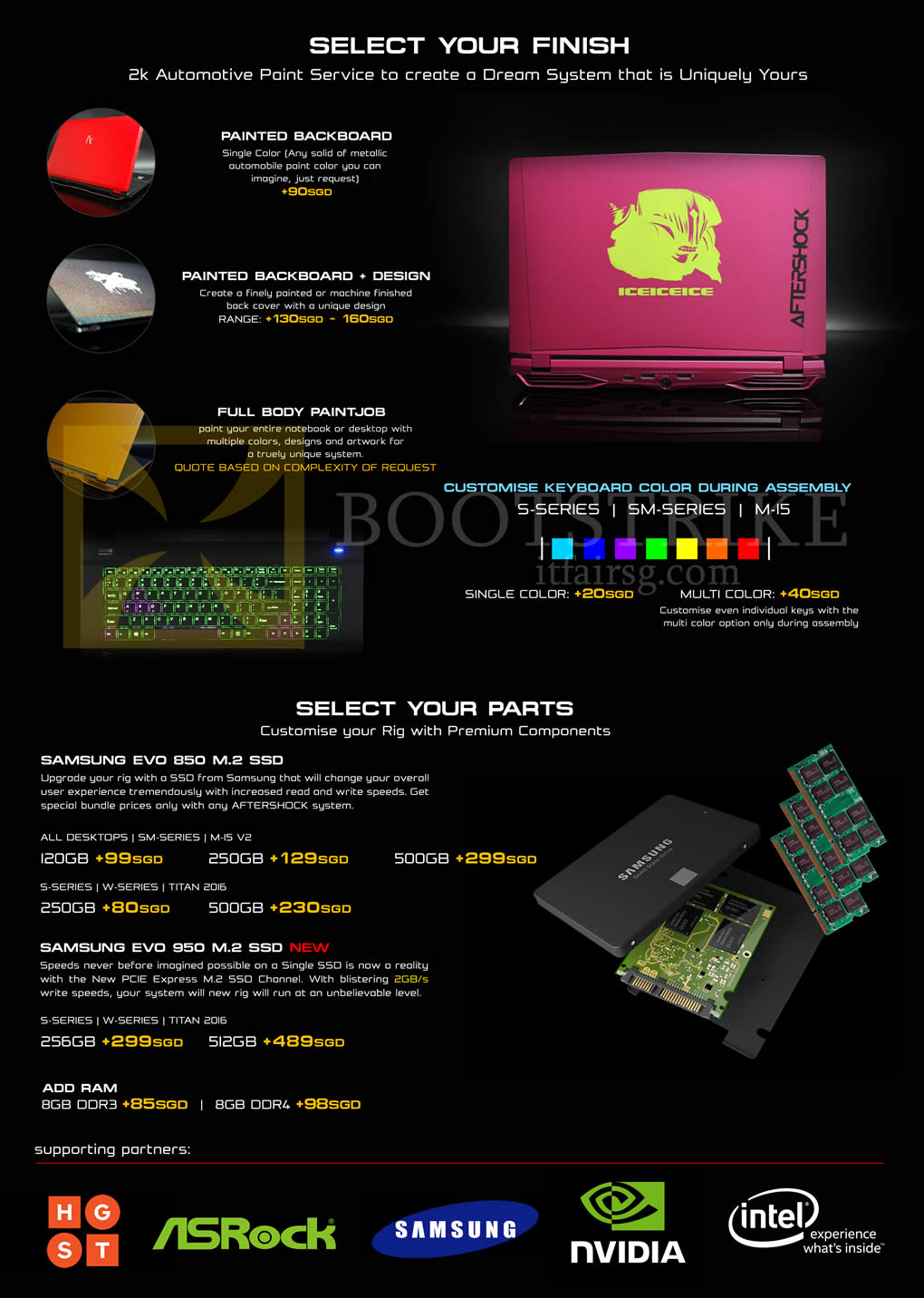 SITEX 2015 price list image brochure of Aftershock Personalising Notebooks Finish, Parts