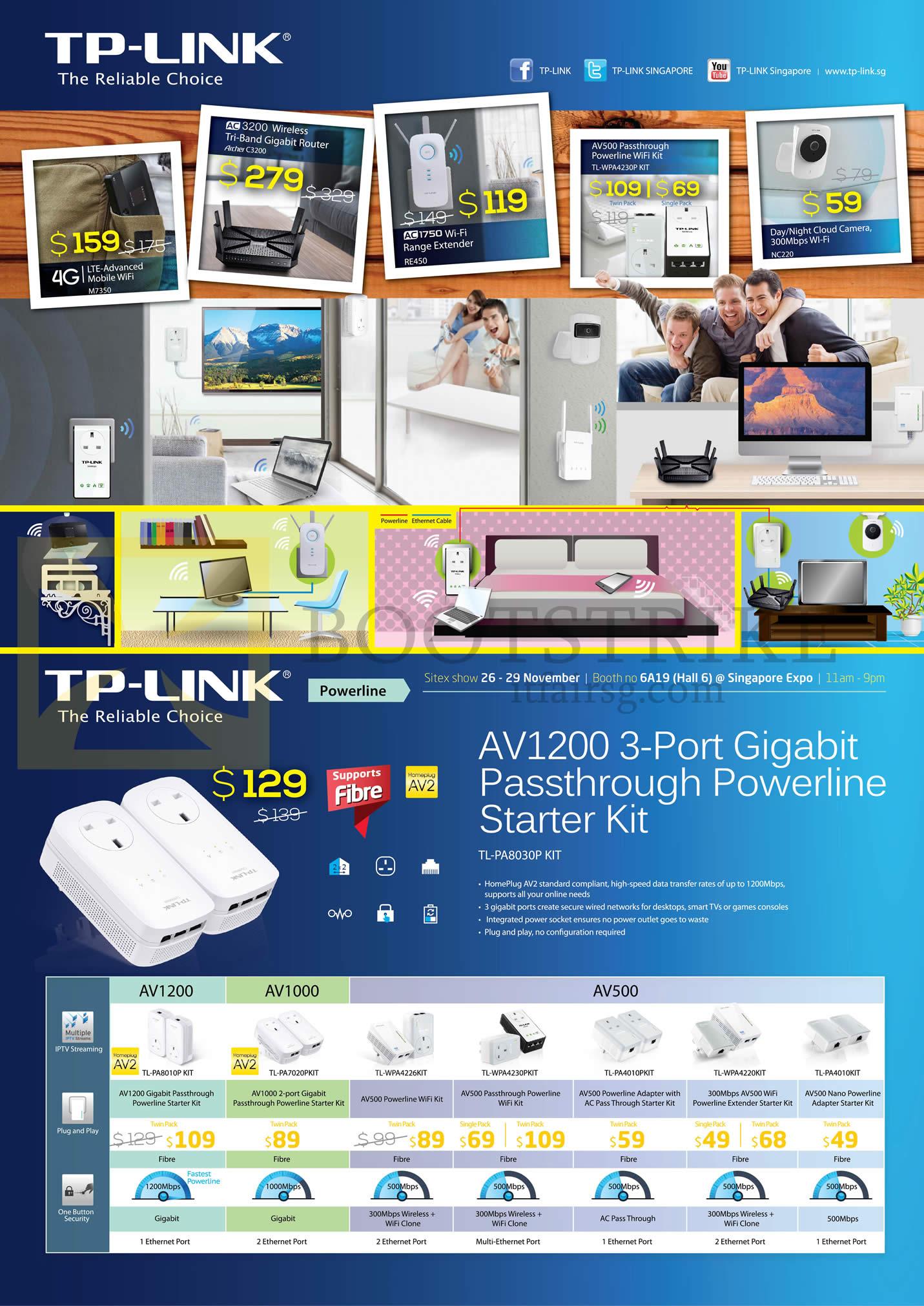 SITEX 2015 price list image brochure of Asia Radio TP-Link Networking AV1200 Starter Kit, AV1000, AV500
