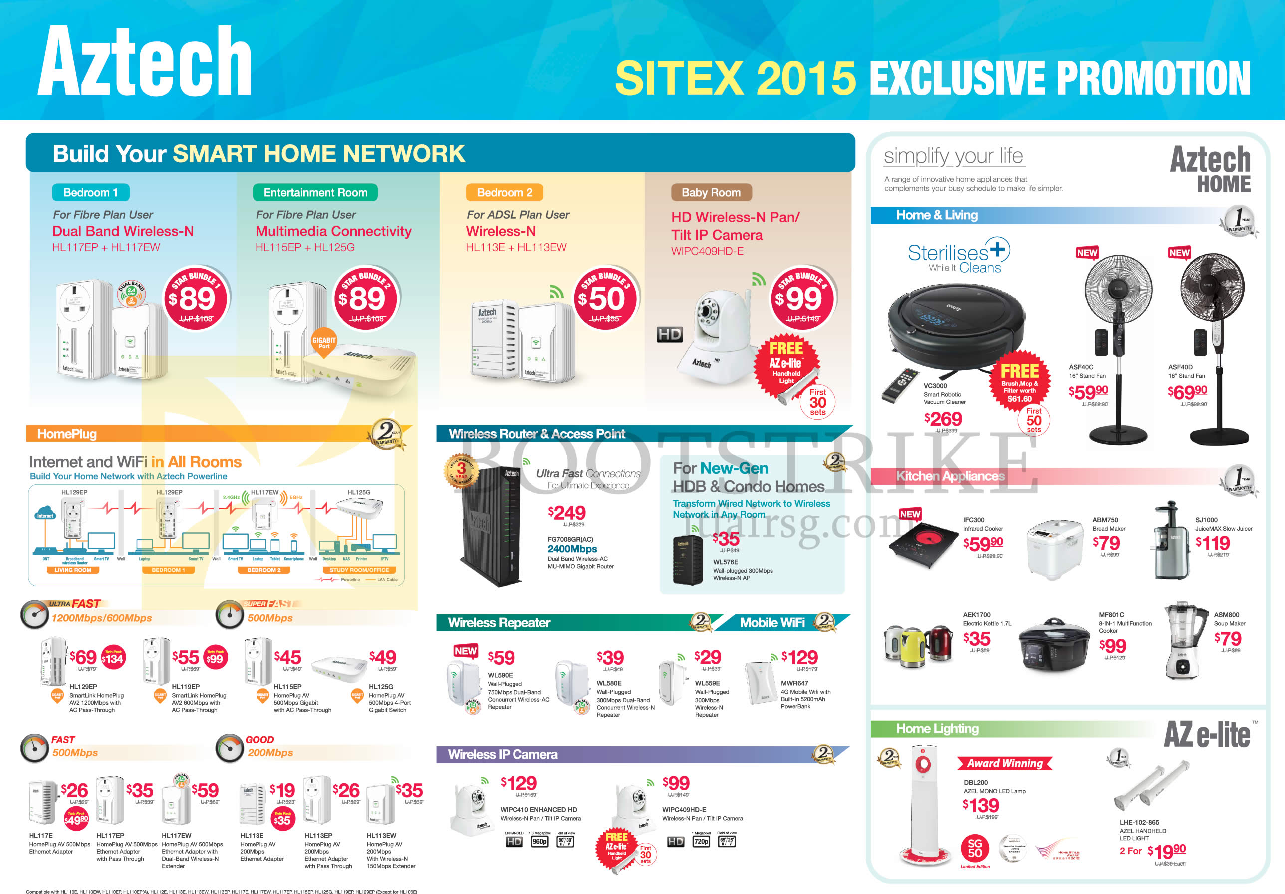 good Kitchen Appliances List With Price #5: SITEX 2015 price list image brochure of Aztech HomePlug, Wireless Router N  Access Point,