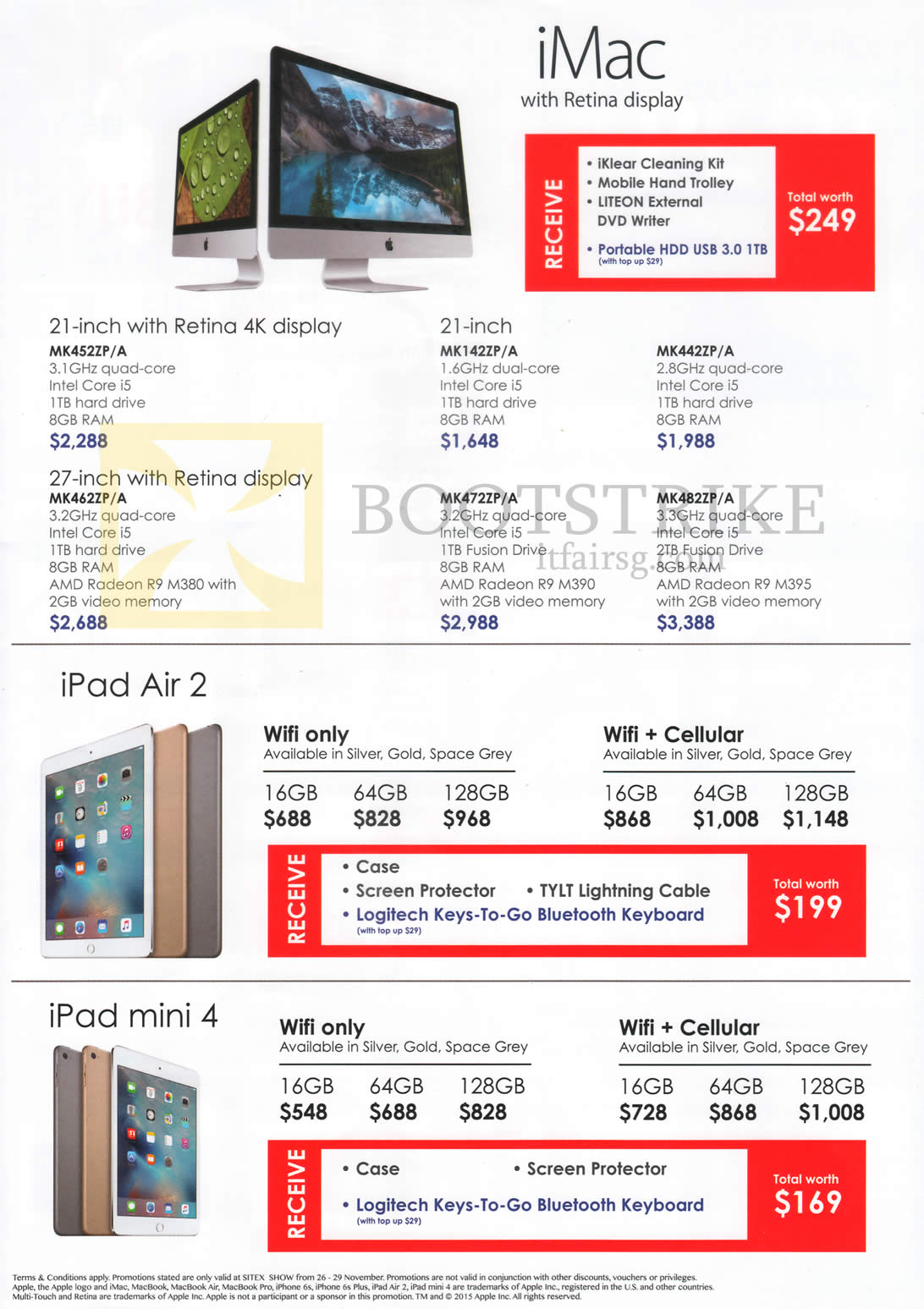 SITEX 2015 price list image brochure of Best Denki Apple IMac With Retina Display, 21 Inch, 27-inch Retina Display, IPad Air 2, IPad Mini 4, 16GB, 64GB, 128GB