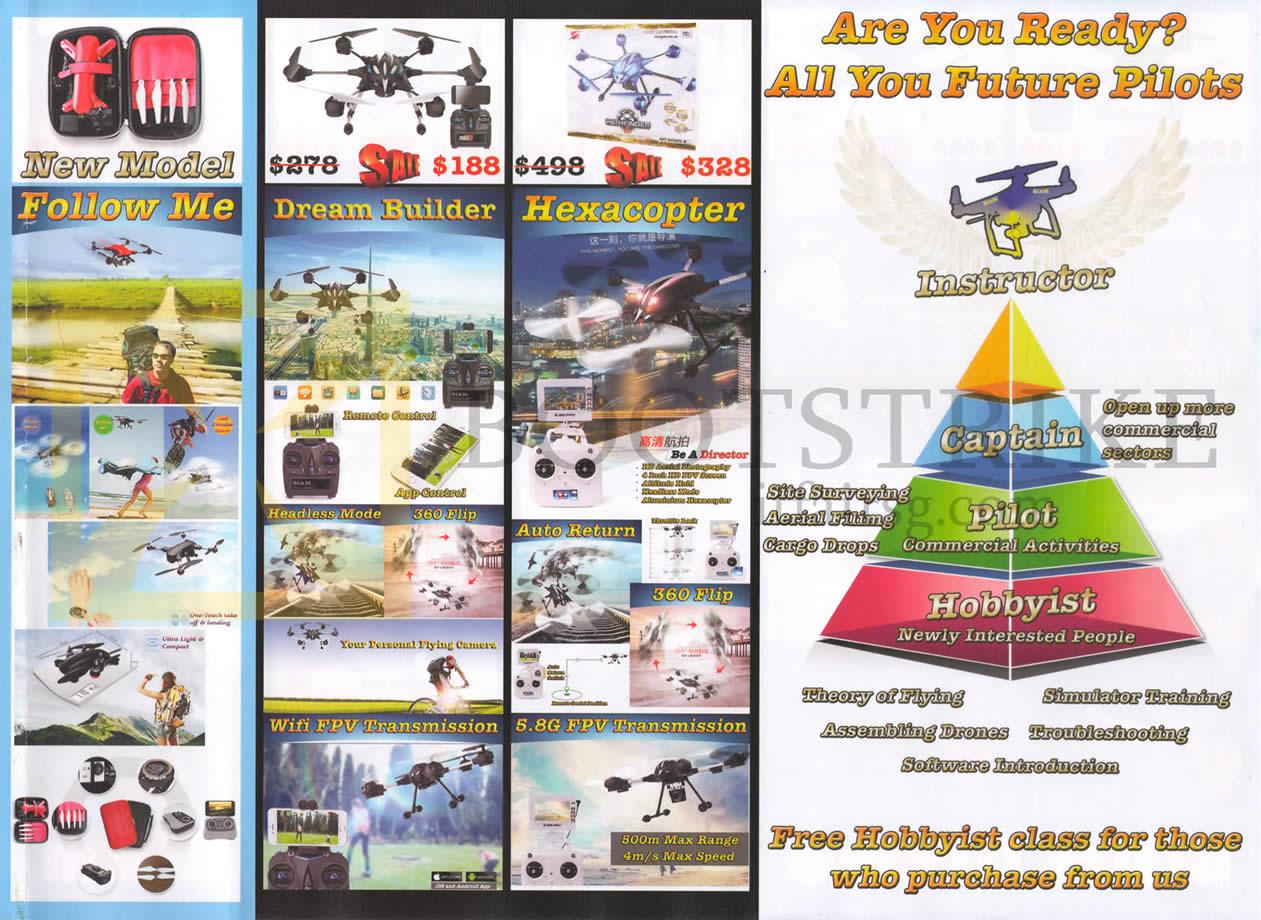 SITEX 2015 price list image brochure of Biam Gizmo Dreambuilder, Hexacopter