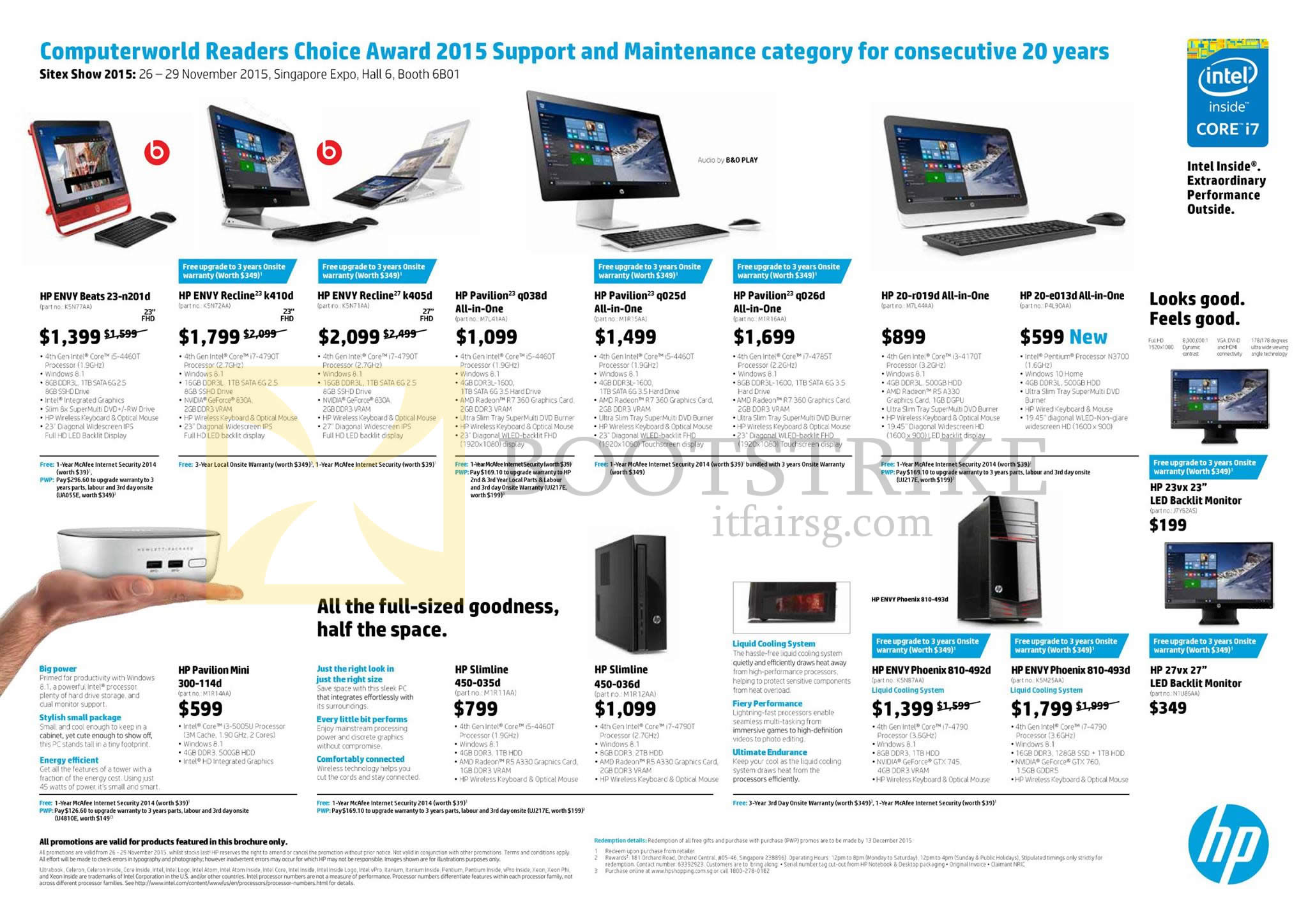 HP Desktop PCs AIO Monitors 20 r019d 22 2100d TouchSmart