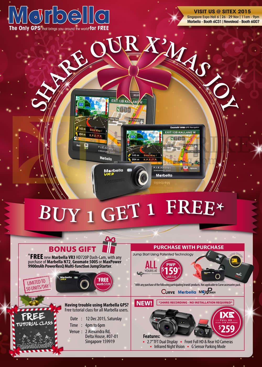 SITEX 2015 price list image brochure of Maka GPS Marbella Buy 1 Get 1 Free, Bonus Gift, Purchase With Purchase