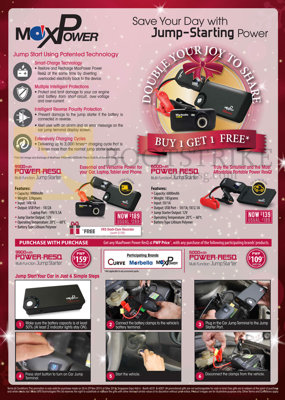 SITEX 2015 price list image brochure of Maka GPS Marbella MaxPower Power RESQ, Features