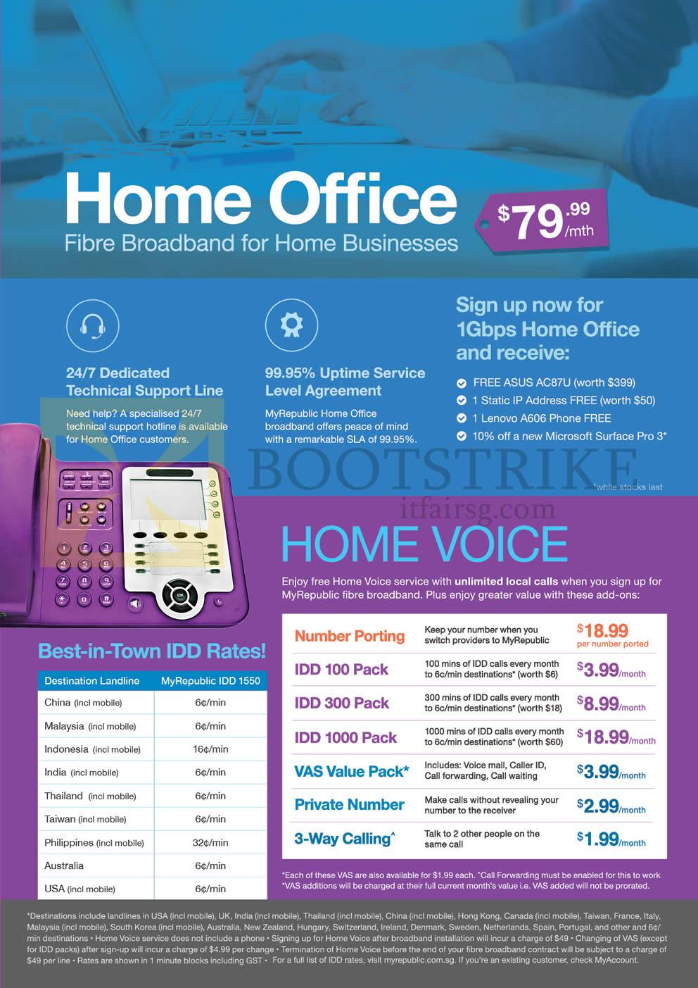 MyRepublic 79 99 Home Office Fibre Broadband SITEX 2015 Price List