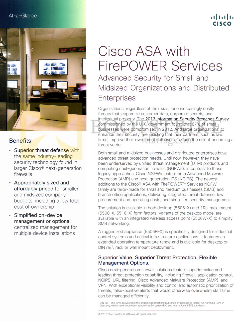 SITEX 2015 price list image brochure of Newstead Cisco ASA Firepower Services