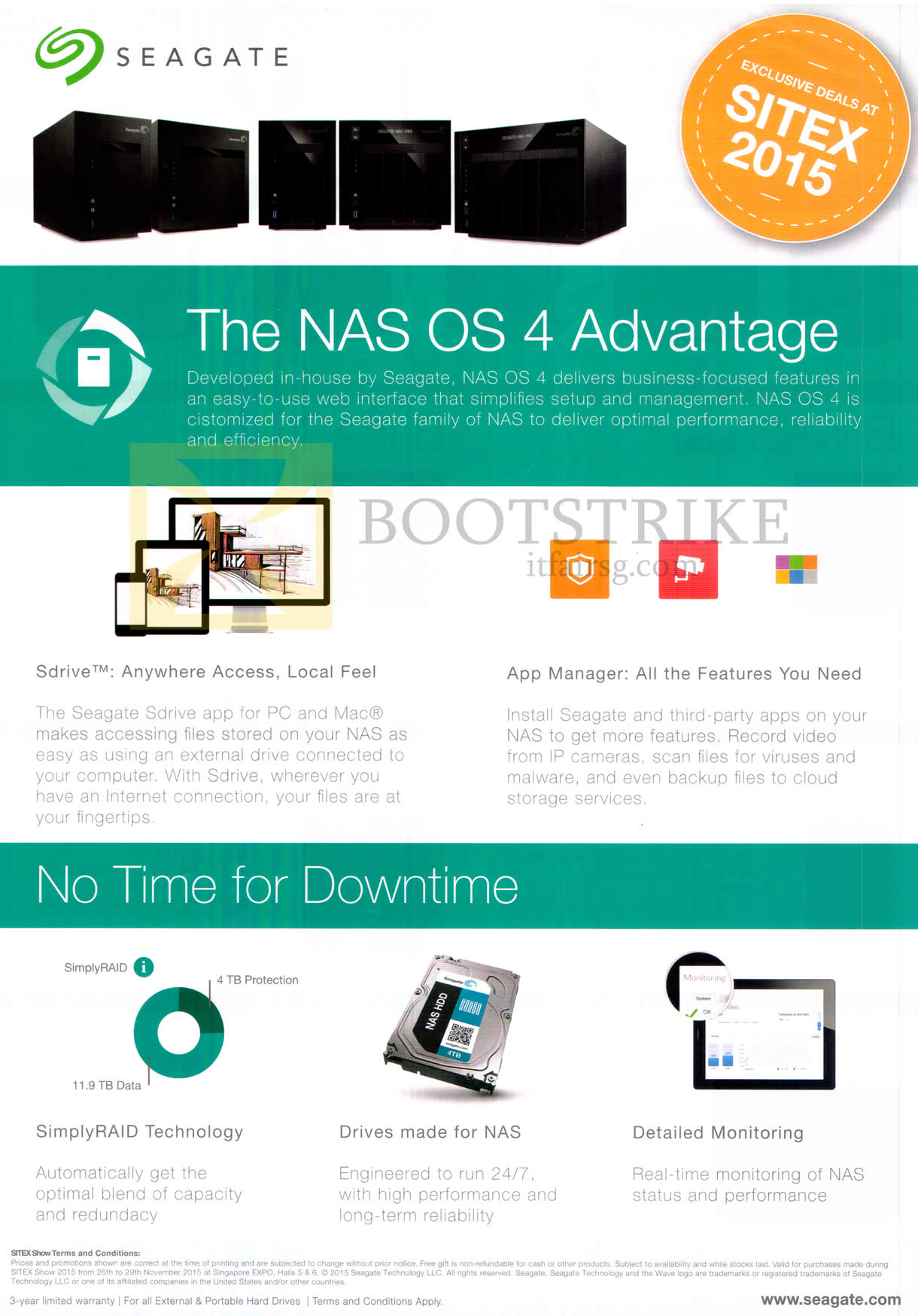 SITEX 2015 price list image brochure of Seagate NAS OS4 Advantage Features