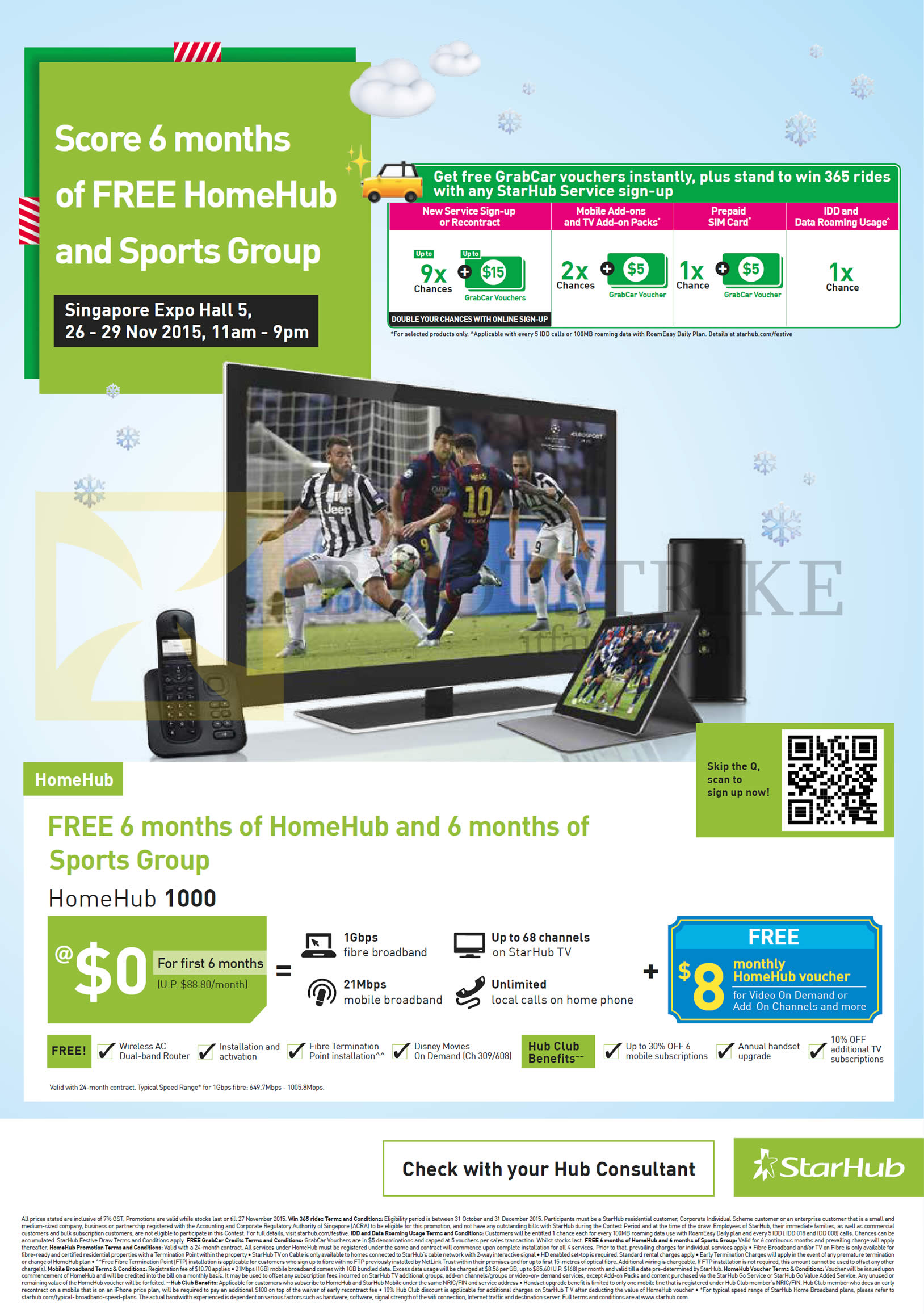 SITEX 2015 price list image brochure of Starhub Free 6 Months HomeHub, 6 Months Of Sports Group