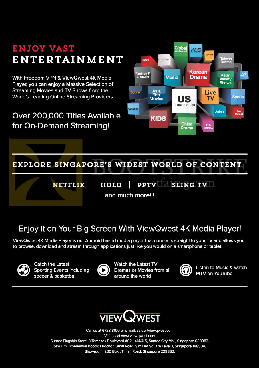 SITEX 2015 price list image brochure of ViewQwest 4K Media Player