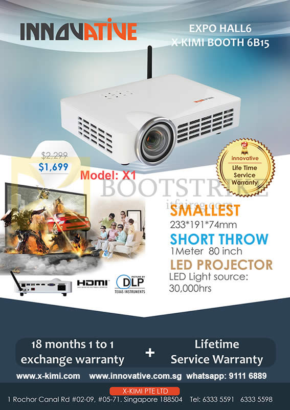 SITEX 2015 price list image brochure of X-Kimi Innovative Projector X1