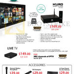 Kuro PP-KSP79 Smart Player, Live TV, Accessories