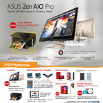 Featured Zen AiO Pro, ZenPad Promotion, ZenFone 2 Laser, Zen AiO Pro, Canon Wireless Printer PIXMA MG3670