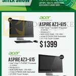 Newstead AIO Desktop PCs, Aspire AZ3-615, Aspire AZ3-615