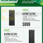 Newstead Desktop PCs Aspire, XC705, 4460U, 4790