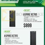 Newstead Desktop PCs Aspire, XC705, 4460U, 4790