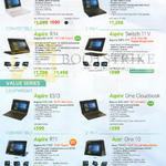 Notebooks Prime Series, Aspire V3-372, TravelMate P446-MG, R5-471T, Switch 11 V, SW5-173, Aspire ES1-331, One Cloudbook, A01-431, R11, R3-131T, One 10, S1002