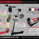 Scooeoom H Series, Y, Z, Hoverboard Series