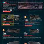 Keyboards QuickFire XTI, Ultimate Mechanical, Rapid-I, Trigger-Z, TK, Octane, Devastator Membrane