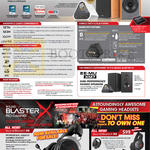 Speakers, Sound Blaster X7, Headphones, Sound BlasterX H5, H3, P5