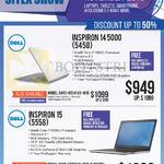 Newstead Notebooks Inspiron 14 5000 5458 5500U, 15 5558 5500U, 5459-650414G-W10, 5559-650124G-W10-SLR