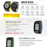 LifeTrak Brite R450 Tracking Heart Rate Monitor, Zone C410, Move C300