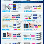 Storage Solutions G Drive Mobile USB, Mobile, Mobile With Thunderbolt, Mini, Ev Raw, Ev ATC, USB, G Raid, Raid Mini