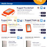 Lacie Mobile Storage Rugged Thunderbolt, Mini, Triple, Porsche Design Slim Drive, Mobile Drive