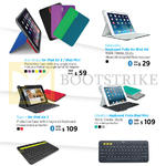 Keyboards N Cases, Any Angle For IPad Air 2 N IPad Mini, Fabricskin Keyboard Folio, Type, Ultrathin Keyboard Folio, Logitech BT Multi-Device KB K480, K380