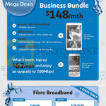 Business Mega Deals, 148.00 Business Bundle, Dynamic Static Fibre Broadband, 50Mbps, 30Mbps
