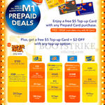 M1 Prepaid Free 5 Dollar Top Up Card With Prepaid Card Purchase