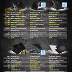 Notebooks GE72 2QF Apache Pro 255SG, GE72 6QF Apache Pro 031SG, GS40 6QE Phantom 005SG, GS60 2QD Ghost 667SG, GS60 6QE Ghost Pro 005SG